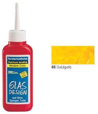 GLAS DESIGN WINDOW COLOR  - Структурна боя за стъкло 80мл ЖЪЛТА ЗЛАТНА