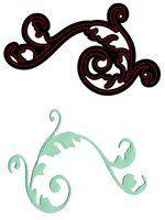 CRAFTS TOO - Дизайн щанца за рязане 8 x 4.4 cm  ELEGANT FLOURISH