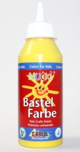 MUCKI BASTEL FARBE - Безвредна боя за детско рисуване 250 мл ЖЪЛТА