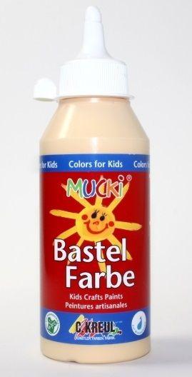 MUCKI BASTEL FARBE - Безвредна боя за детско рисуване 250 мл ТЕЛЕСНА