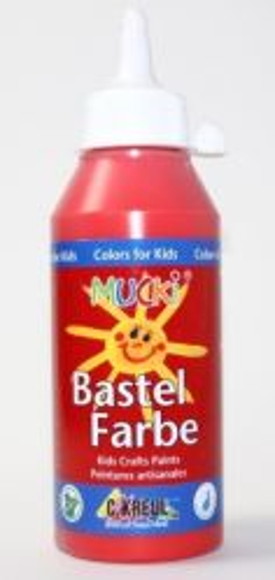 MUCKI BASTEL FARBE - Безвредна боя за детско рисуване 250 мл ЧЕРВЕНА