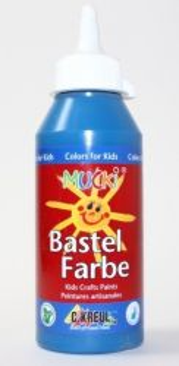 MUCKI BASTEL FARBE - Безвредна боя за детско рисуване 250 мл   СИНЯ