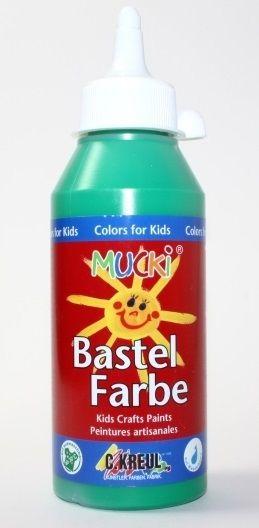 MUCKI BASTEL FARBE - Безвредна боя за детско рисуване 250 мл   ЗЕЛЕНА