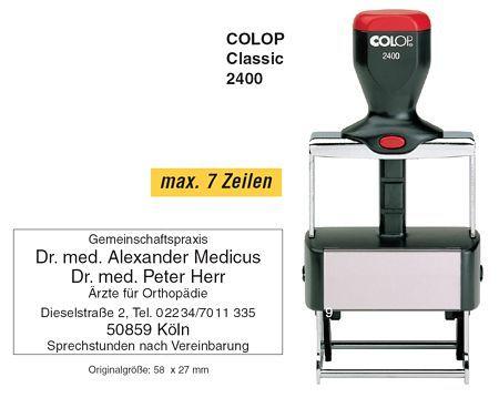 COLOP S2400 - Щемпел машинка за самонамастиляващ се печат
