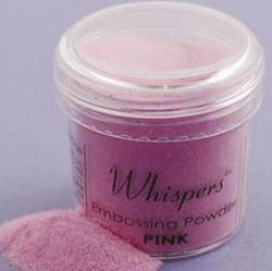 WHISPERS embossing powder - Пудра за топъл ембос PINK