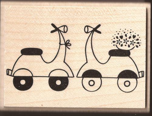 ALADINE STAMP G - Гумен печат на дървено блокче 01584 / 6,5х3,5см