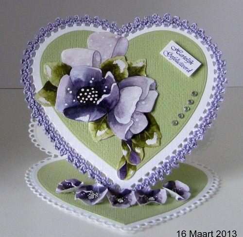 HEARTS by Marianne Design - Шаблон за рязане и ембос