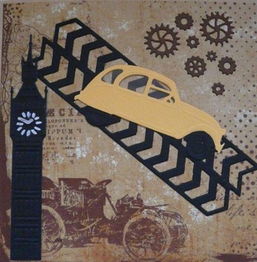 AUTO Marianne Design RETRO  DEUX CHEVAUX - Шаблон за рязане и ембос