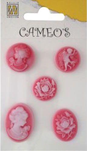 CAMEOS -  елементи от полимерна смола RED