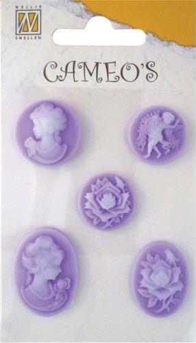 CAMEOS - елементи от полимерна смола VIOLET