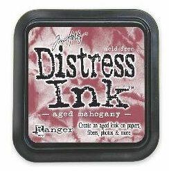 "Distress ink pad by Tim Holtz - Тампон, ""Дистрес"" техника - Aged Mahogany"