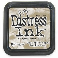 "Distress ink pad by Tim Holtz - Тампон, ""Дистрес"" техника - Frayed burlap"