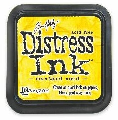 "Distress ink pad by Tim Holtz - Тампон, ""Дистрес"" техника - Mustard seed"