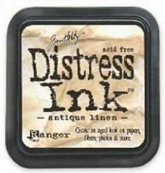 "Distress ink pad by Tim Holtz - Тампон, ""Дистрес"" техника - Antique linen"