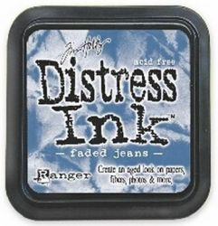 "Distress ink pad by Tim Holtz - Тампон, ""Дистрес"" техника - Faded jeans"