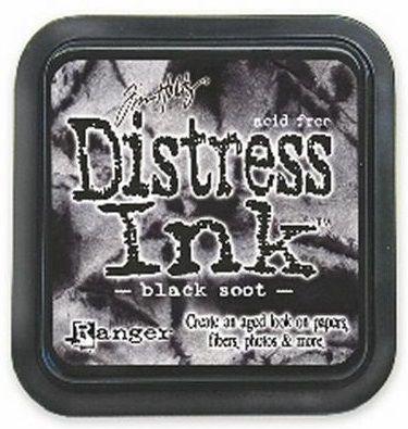 DISTRESS тампон - Black soot
