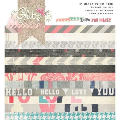 "GLITZ Love you Madly  6x6 PAD - Дизайнерски блок 6""x6"" / 24 листа"