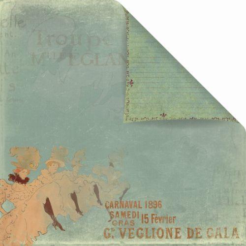 PRIMA USA CAN-CAN 12 X 12  - Дизайнерска скрапбукинг хартия 30,5 х 30,5 см.