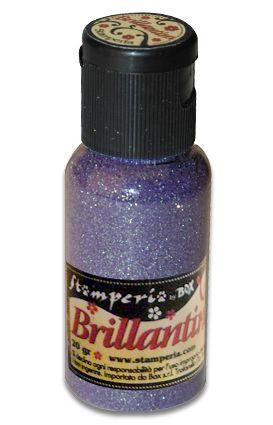 Brillantini,Stamperia -Диамантен брокат за декорация 20 гр. - Lilac