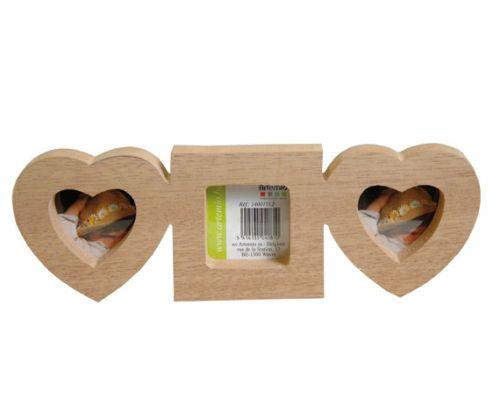 Artemio 3D FRAMES - Обемна дървена рамка за 3 бр. снимки 23.5х2х8 см.