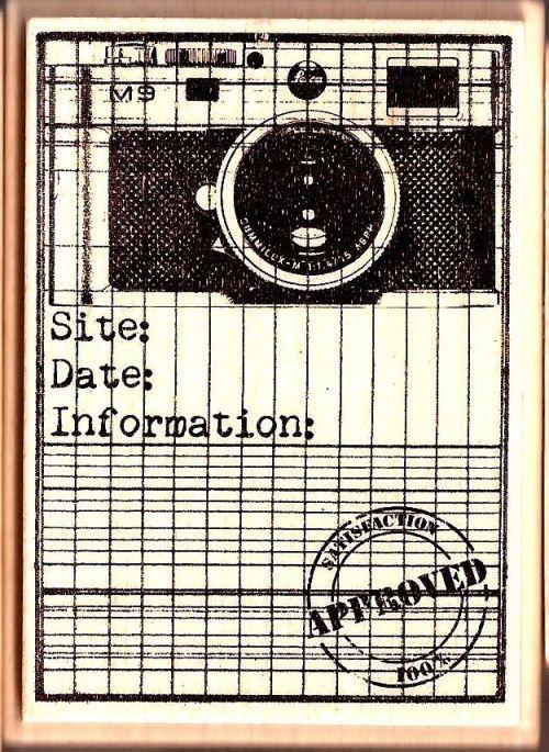 ALADINE STAMP G- Гумен печат на дървено блокче 01477 / 6.5 x 5 cm.