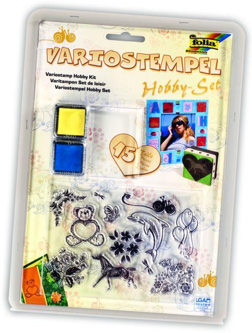 FOLIA VARIOSTEMPEL - Дизайнерски комплект прозрачни печати 15 части