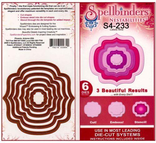 Spellbinders USA - К-кт шаблони за изрязване и ембос S4-233