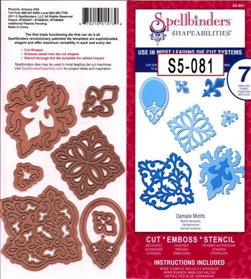 Spellbinders USA - К-кт шаблони за изрязване и ембос S5-081