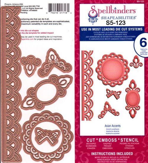Spellbinders USA - К-кт шаблони за изрязване и ембос S5-123