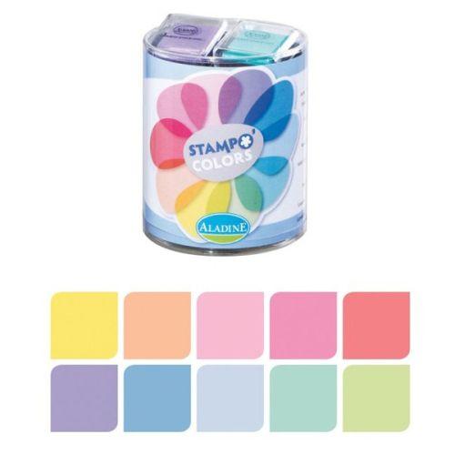 STAMPO colors ALADINE - Комплект пигментни тампони 10 цв. PASTEL