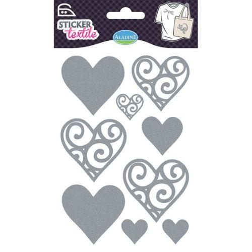 ALADINE STICKER TEXTILE - Стикер за текстил HEARTS GLITTER