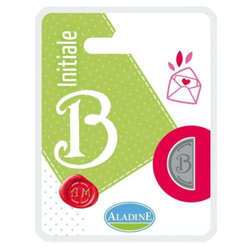 ALADINE,France -  метален печат ДВУСТРАНЕН ИНИЦИАЛ  за восък  B