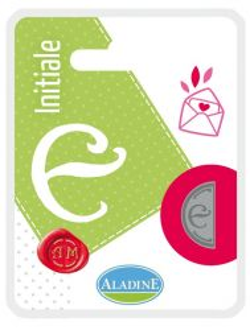 ALADINE,France -  метален печат ПОЛОВИНКА ДВУСТРАНЕН ИНИЦИАЛ  за восък  E