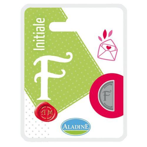 ALADINE,France -  метален печат ПОЛОВИНКА ДВУСТРАНЕН ИНИЦИАЛ  за восък  F