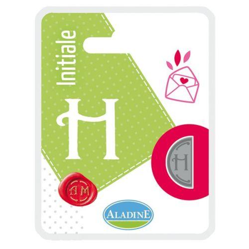 ALADINE,France -  метален печат ДВУСТРАНЕН  ИНИЦИАЛ  за восък  H