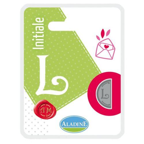 ALADINE,France -  метален печат ПОЛОВИНКА  ДВУСТРАНЕН ИНИЦИАЛ  за восък  L