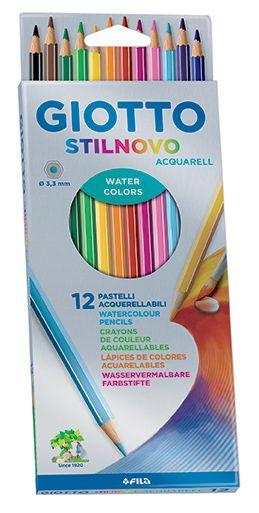 GIOTTO AQUARELL 12 - Фини акварелни моливи 12цв
