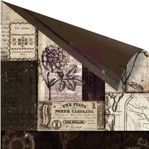 PRIMA ENGRAVER CESELLO ,USA 12 X 12  - Дизайнерски скрапбукинг картон 30,5 х 30,5 см.
