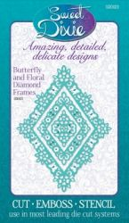 Sweet Dixie Metal Die - ЩАНЦИ BUTTERFLY & FLORAL DIAMOND