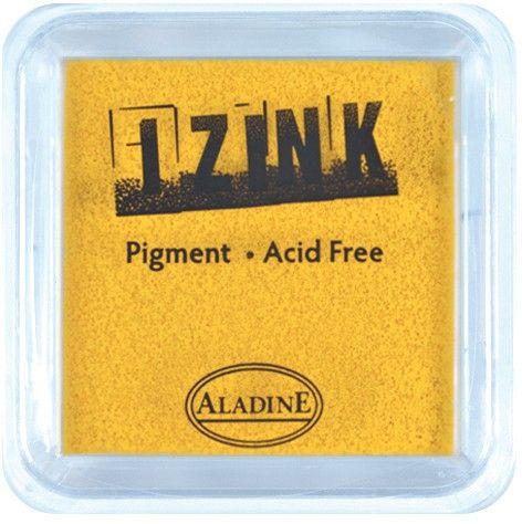 IZINK PAD PIGMENT - Среден тампон 4X4см - YELLOW