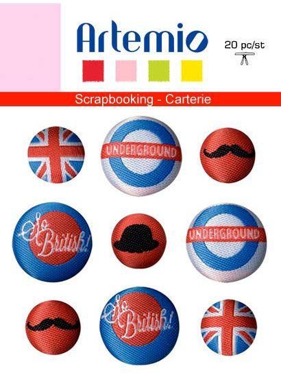 BUTTONS FABRIC by Artemio - Дизайнерски копчета, LONDON
