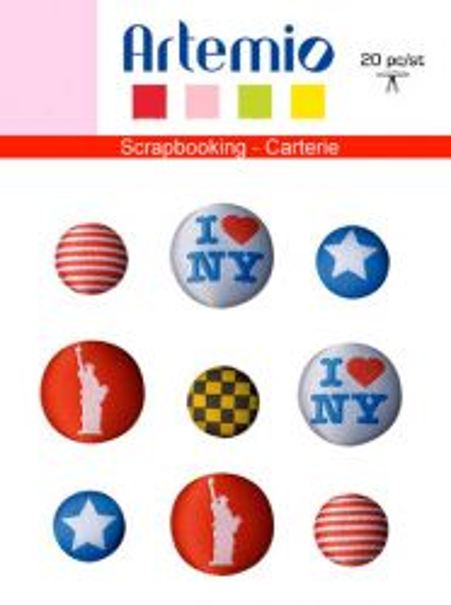BUTTONS  FABRIC by Artemio  - Дизайнерски копчета, NEW YORK