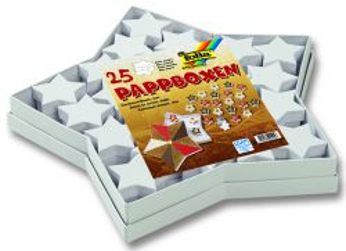 CARDBOX SET STARS - Комплект 25 кутии Folia-Germany БЕЛИ
