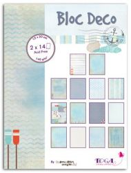 BLOC DECO # SEA VIEW -  Дизайн блок 28sheet, 15X20