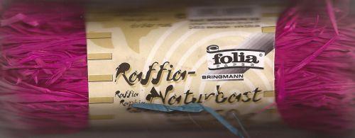 RAFFIA - Натурално лико 50гр  ЦИКЛАМА