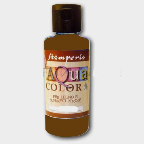 AQUA COLOR, Stamperia - ДЕКО байц за дърво и порести материали 60 ml - WALNUT