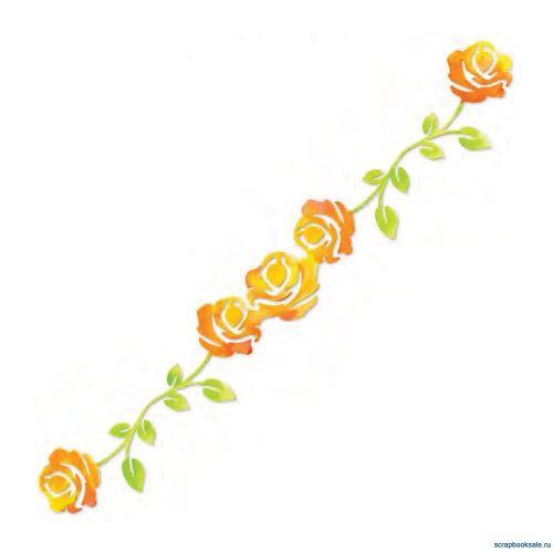 Sizzlits Decorative Strip Die - Rose Vine