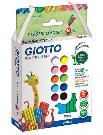 GIOTTO PATPLUME 10ЦВ - Фин моделин на растителна основа подходящ за малки деца
