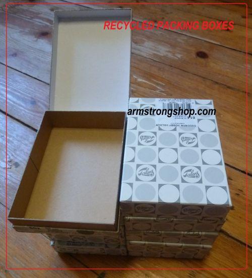 CRAFT BOXES  - 10бр рециклирани твърди кутийки за декорация 13,5х9,8х3,2см