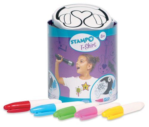 ALADINE STAMPO T-SHIRT  - Комплект печати + тампон + маркери за текстил 05306
